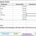 Employee Work Schedule Template Excel