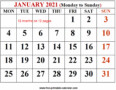 Microsoft Word 2021 Calendar Template Monthly