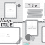 Free Digital Scrapbook Pages Templates