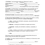 Sub Contractor Agreement Template Free