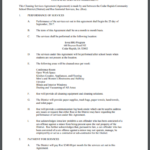 Monthly Service Agreement Template