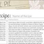 Recipe Scrapbook Templates